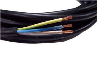 10metre cutting of 3 core 6mm H07RN-F rubber flexible cable